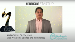Tony Green presents the Healthcare Startup award